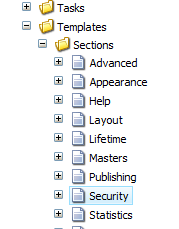 Security Template in Sitecore Tree